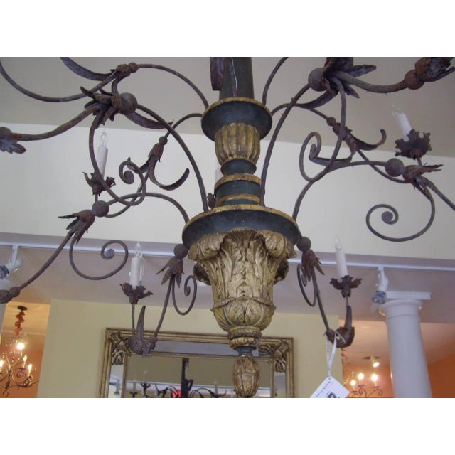Gray Very Large Late 18th/19th Century Italian Chandelier For Sale - Image 8 of 11
