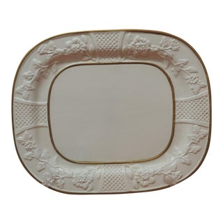 Large Oval Bone China Platter With Gold Details For Sale