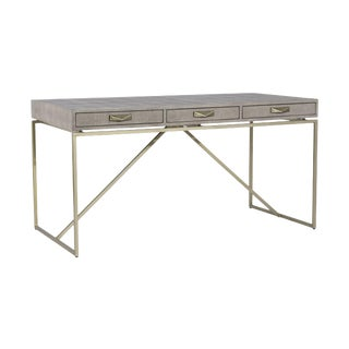 Interlude Home Atherton Shagreen Desk - Grey For Sale