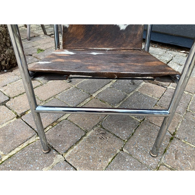 Mid-Century Modern Vintage Mid Century Crome and Pony Arm Chair For Sale - Image 3 of 8