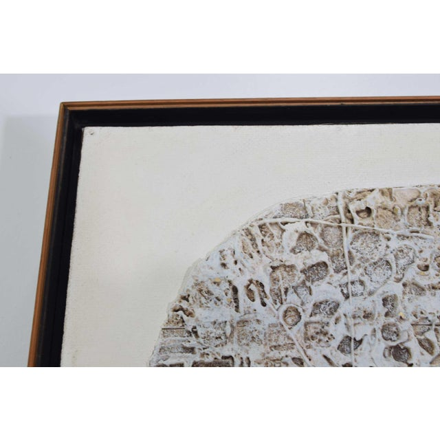 Abstract Brutalist Style Textured Art on Masonite For Sale - Image 4 of 10