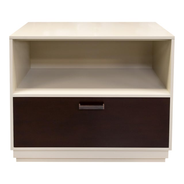 Minimalistic Gray Maple Filing Cabinet For Sale