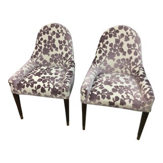 Modern Barbara Barry Henredon Upholstered Chairs - A Pair For Sale
