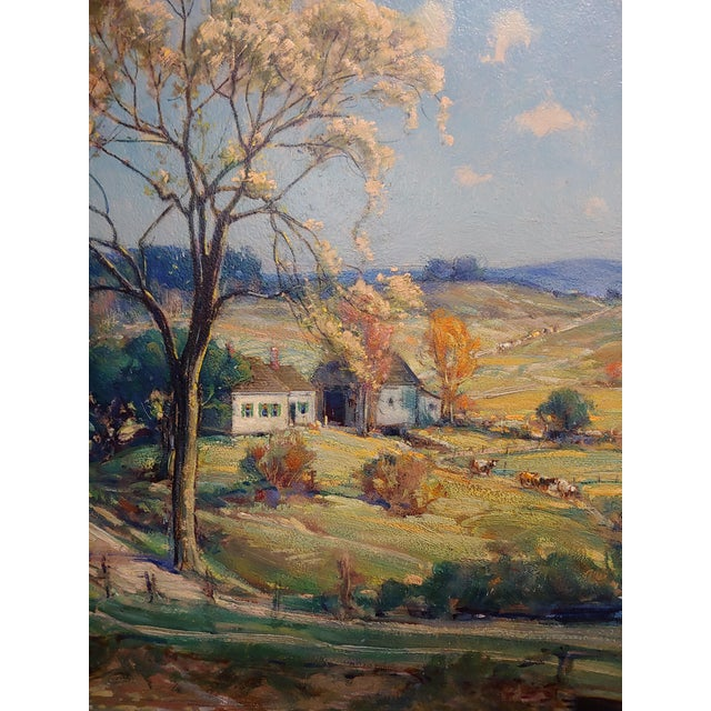 New England Country Side Landscape Oil Painting For Sale - Image 4 of 10