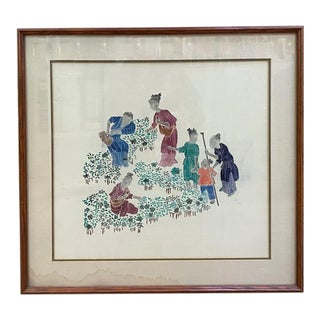 Asian Print - Family of Working Women For Sale