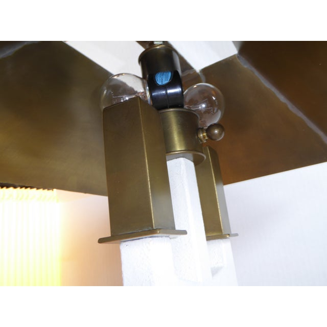 White Hart Associates Postmodern Bouillotte Lamp With Painted Brass Metal Shade 1970s. For Sale - Image 8 of 11