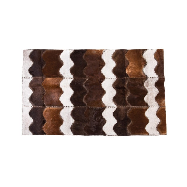 """Cowhide Patchwork Area Rug - 4' x 6'4"""" - Image 1 of 8"""
