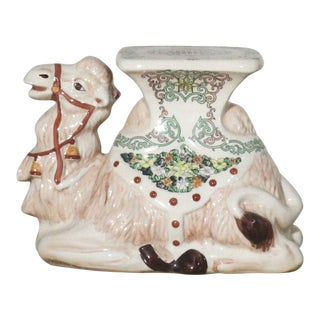 Chinoiserie Ceramic Camel Garden Stool For Sale