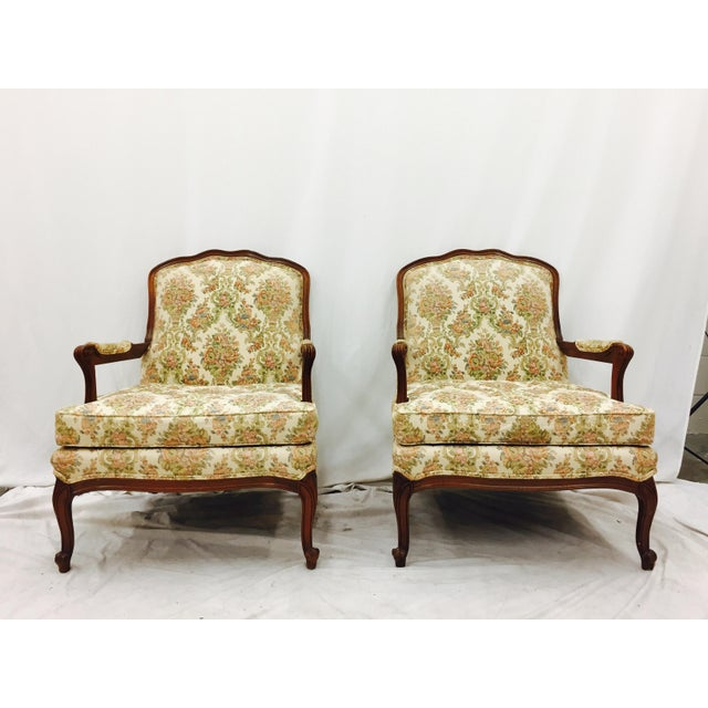 Vintage French Style Arm Chairs - A Pair - Image 3 of 11
