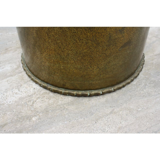 Mid-Century Brass Chinoiserie Umbrella Stand - Image 8 of 9