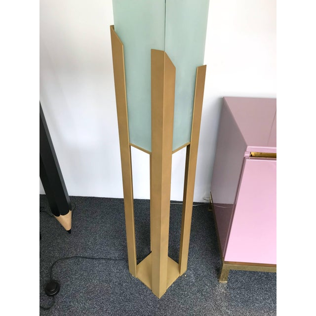 Mid-Century Modern Skyscraper Floor Lamp by Maison Lucien Gau, France, 1980s For Sale - Image 3 of 9