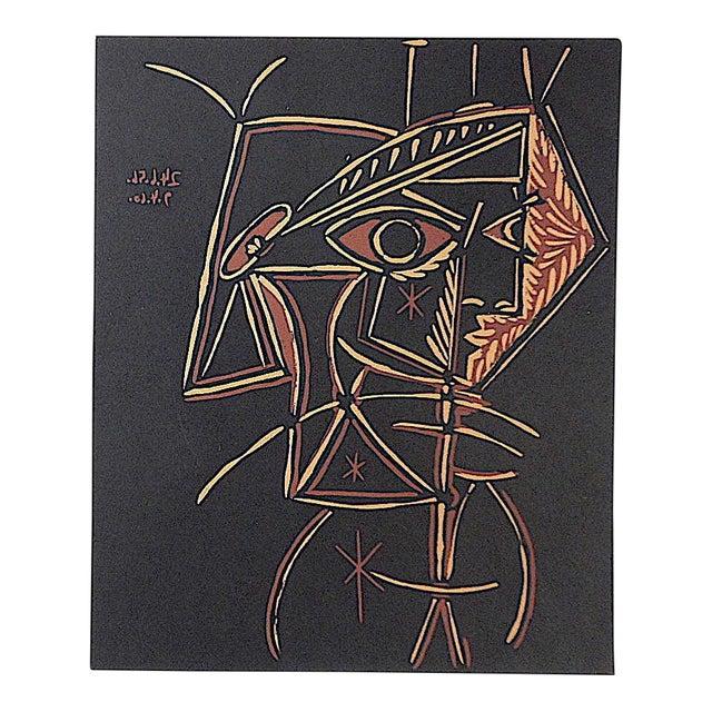 """Vintage Picasso Lithograph-""""Tete De Femme"""" For Sale"""