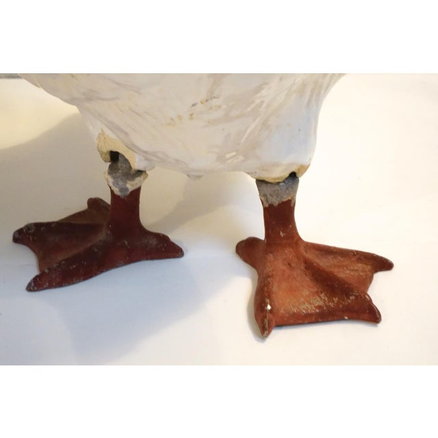 Pair of Large Vintage Ceramic Glaze Geese For Sale - Image 10 of 11