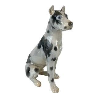 Vintage Mid-Century Danish Porcelain Dog For Sale