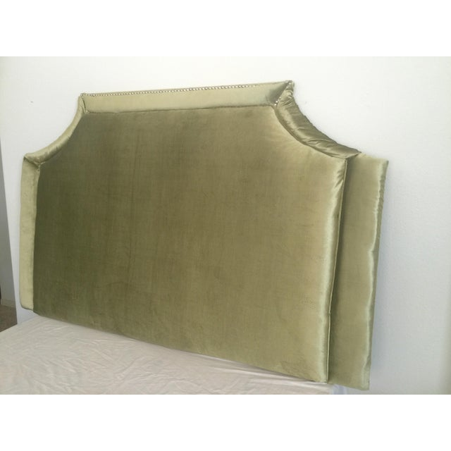 Queen Size Olive Green Headboard - Image 4 of 6