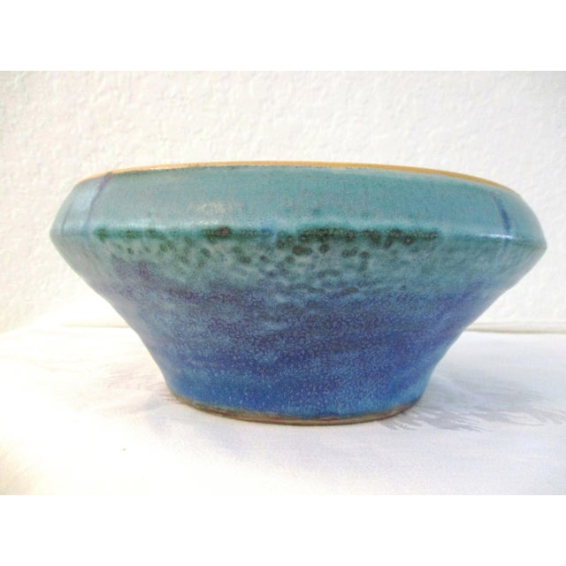 1990s Aqua Seas Turquoise Pottery Collection - Set of 3 For Sale In West Palm - Image 6 of 8