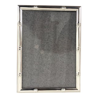Hollywood Regency Style Silver Bamboo Picture Frame