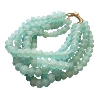 African Jumbo Glass Trade Bead Strands,S/5 160 Beads