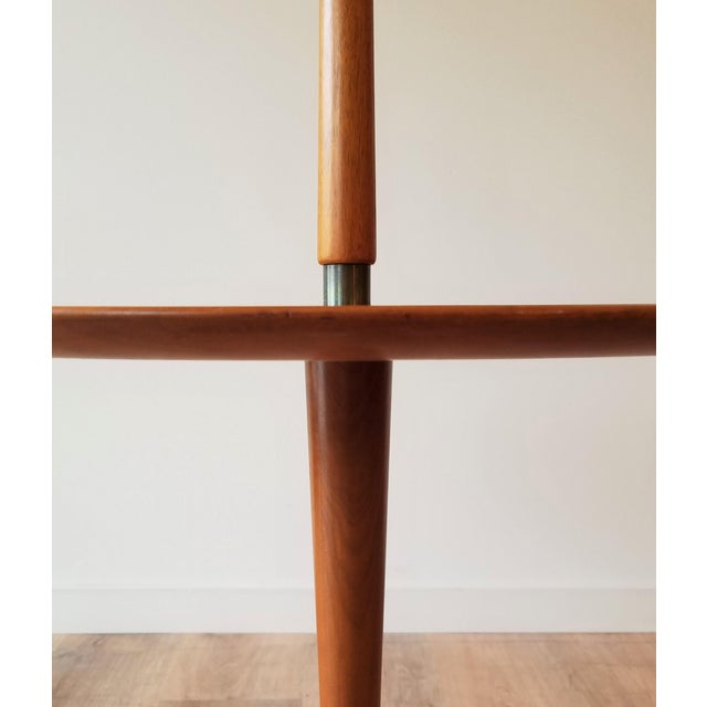 Metal 1940s Edward Wormley Snack Table/Floor Lamp for Dunbar For Sale - Image 7 of 11