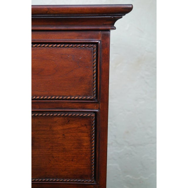 Drexel Heritage Cherry Wood Chest of Drawers For Sale - Image 10 of 10