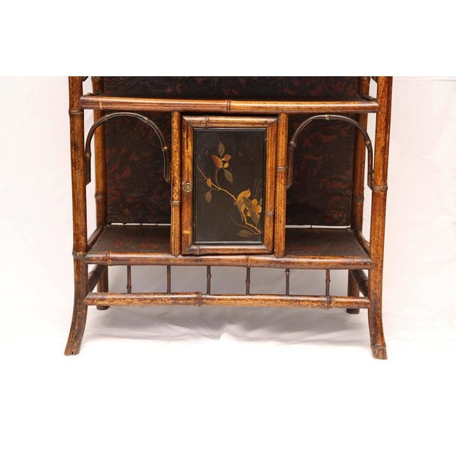 Early 19th Century English 19th Century English Bamboo Cabinet For Sale - Image 5 of 9