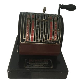 1930s Antique Paymaster Office Check Writer