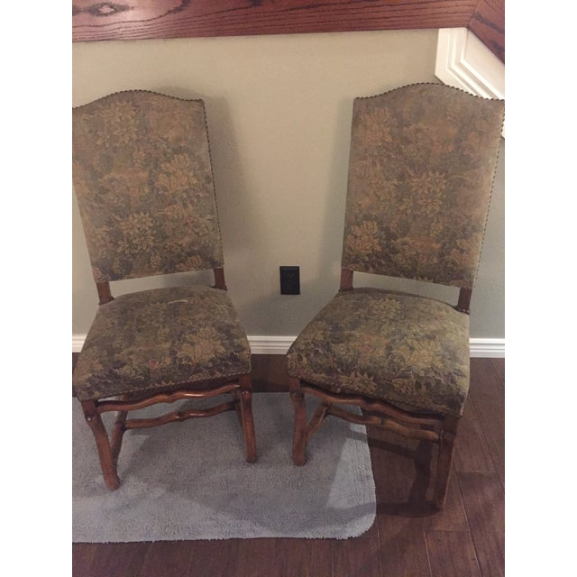 Antique French Os De Mouton Pegged Oak Dining Chairs - a Pair For Sale In Denver - Image 6 of 10