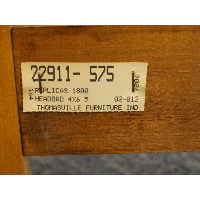 Vintage Thomasville Furniture Solid Knotty Pine Queen Size Spindle Bed For Sale - Image 9 of 10