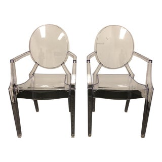 Kartell Style Philippe Starck Ghost Chairs - A Pair