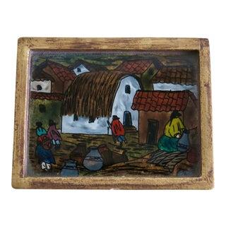Vintage Peruvian Parwa Trinket Box For Sale
