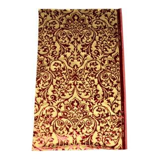 Gold Silk Hand Printed Italian Ardecora Velvet For Sale