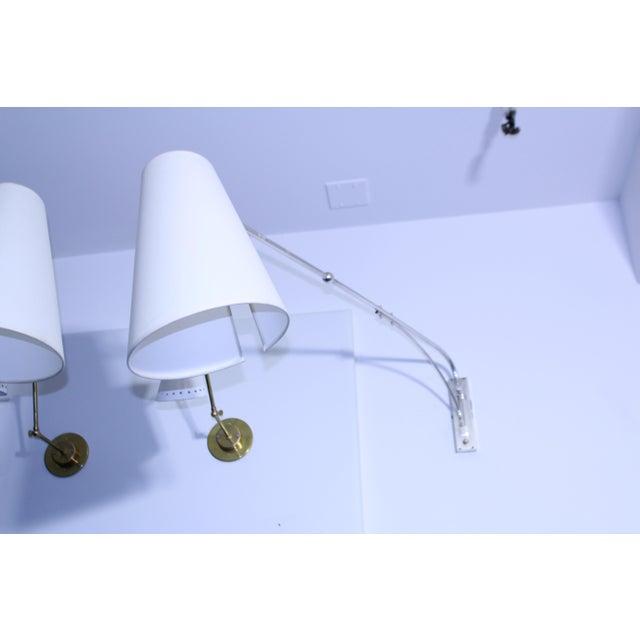 Mid-Century Modern Lunel Sconces Large Version For Sale - Image 3 of 8