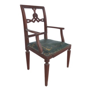 Circa 1940s Carved Celtic Knot Desk Chair