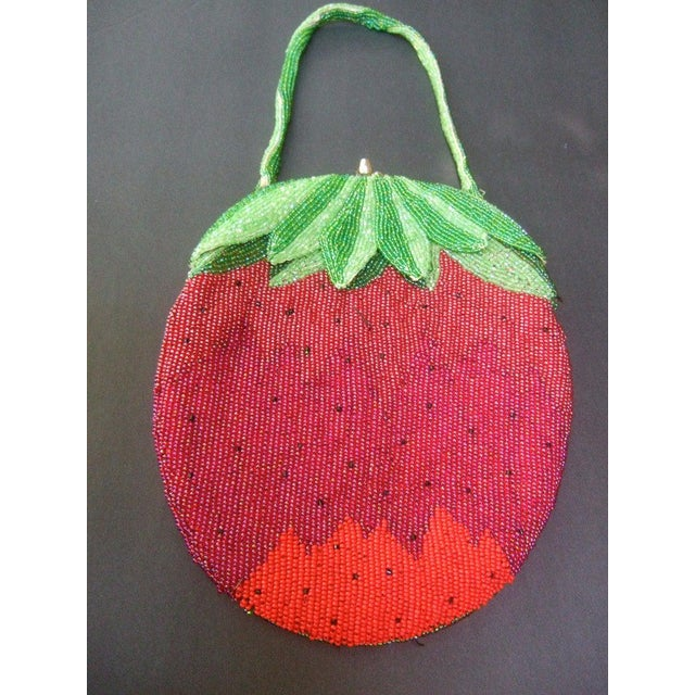 Glass Beaded Strawberry Evening Bag For Sale - Image 10 of 10