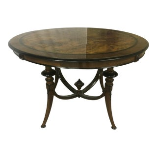 Swedish Refined Burl Dining Table For Sale