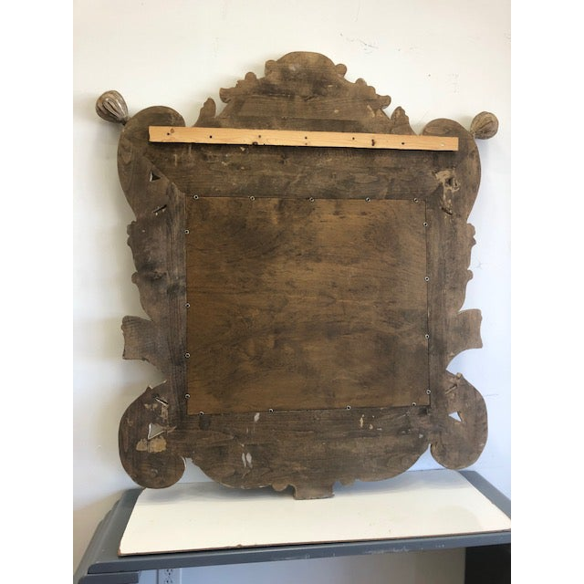 Late 20th Century Overscaled Hand Carved Wood Neoclassical Mirror For Sale - Image 4 of 13