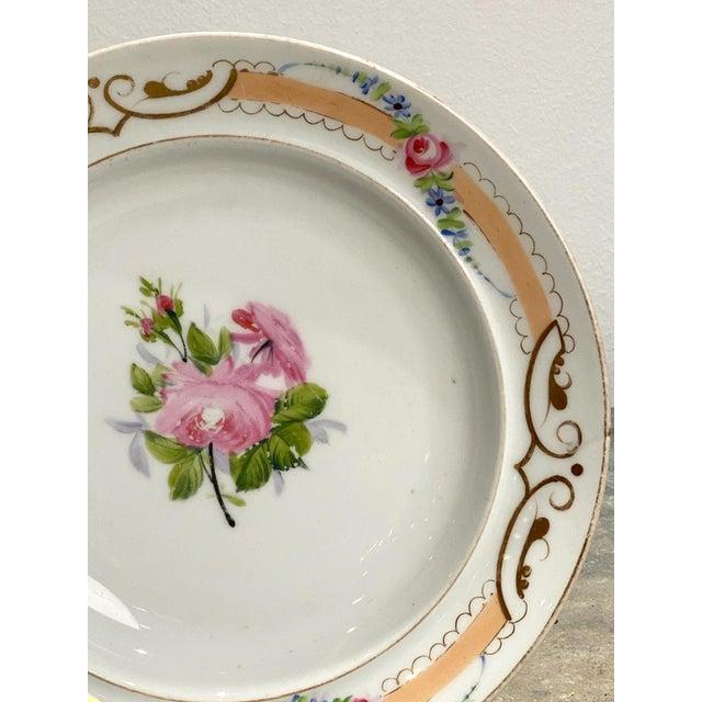Set of 8 Paris Porcelain Soup Bowls, France 19th Century For Sale - Image 4 of 5
