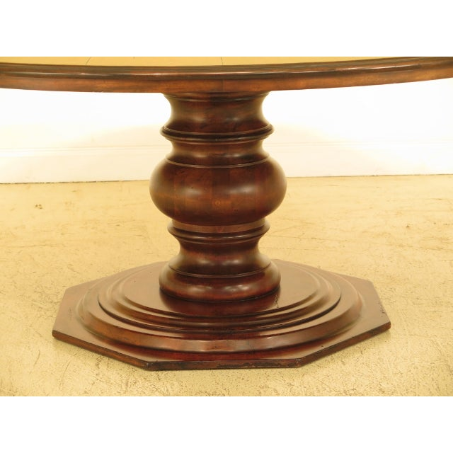 Chaddock Guy Chaddock Round Distressed Wood Dining Room Table For Sale - Image 4 of 8