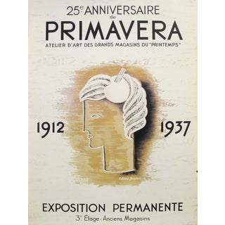 1980s French Poster - 25th Anniversary Primavera by Colette Gueden For Sale