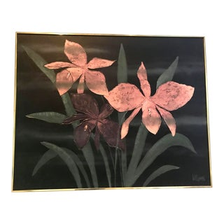 1980s Vintage Lee Reynolds Lilies Oil Painting For Sale