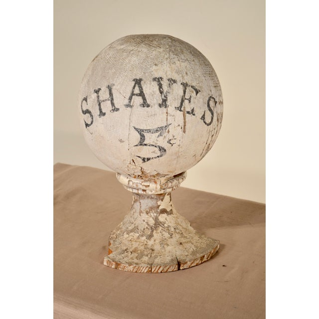 19th-Century Antique American Barber Sign For Sale - Image 4 of 4