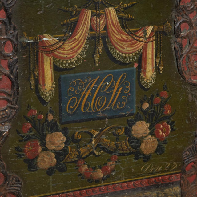 Danish Original Painted Dowry Chest Circa 1835 For Sale In New York - Image 6 of 11