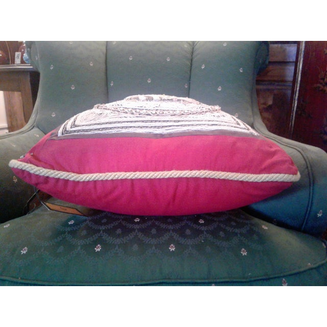 A set of vintage oriental hand beaded pillow with a royal elephant. These pillows where taken from a classic piece of...