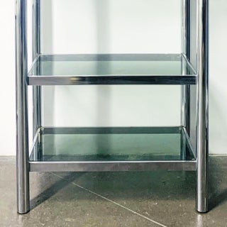 1970s Vintage Chrome and Smoked Glass Etagere Preview