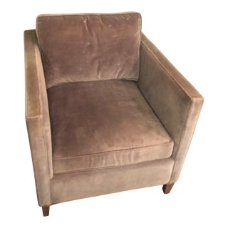 ABC Carpet and Home Grey Velvet Armchair