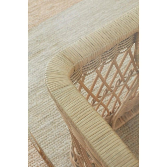 McGuire Organic Modern Rattan Wicker Coffee Cocktail Table For Sale - Image 11 of 13
