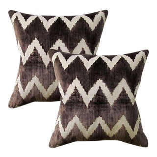 Lee Jofa Watersedge Velvet Pillows - A Pair