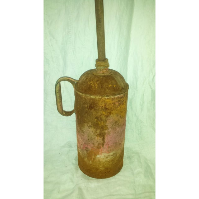 Antique Railroad Oil Can Industrial Rust Decor - Image 3 of 11
