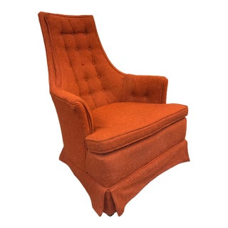 Adrian Pearsall Upholstered High Back Chair Armchair For Sale
