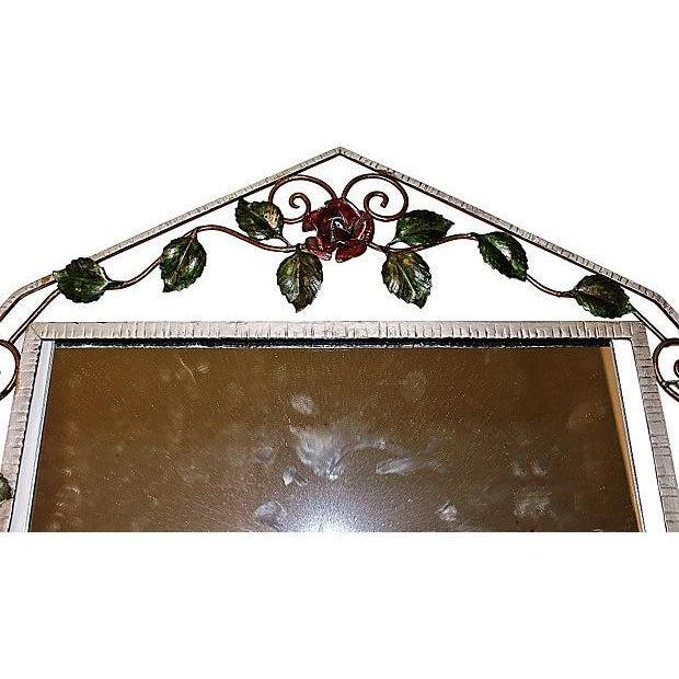 French Iron Art-Deco Mirror - Image 3 of 3